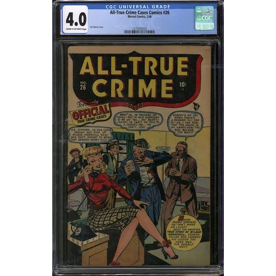 All-True Crime Cases Comics #26 CGC 4.0 (C-OW) *1275055020*
