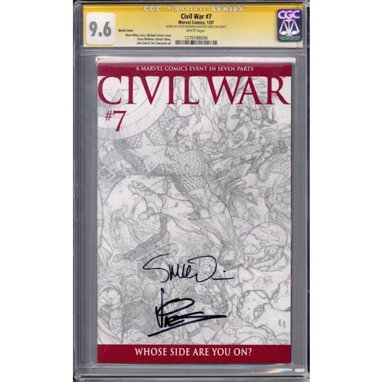 Civil War #7 CGC 9.6 Sketch Cover McNiven Vines Signature Series CGC 9.6 (W) *1276188006*