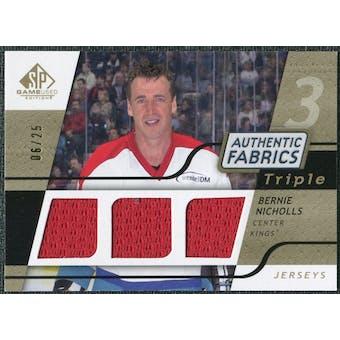 2008/09 Upper Deck SP Game Used Triple Authentic Fabrics Gold #3AFNC Bernie Nicholls /25
