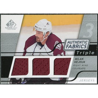 2008/09 Upper Deck SP Game Used Triple Authentic Fabrics #3AFMH Milan Hejduk