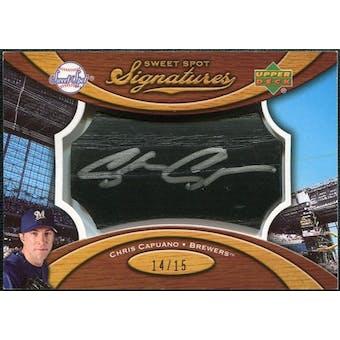 2007 Upper Deck Sweet Spot Signatures Black Bat Barrel Silver Ink #CC Chris Capuano /15