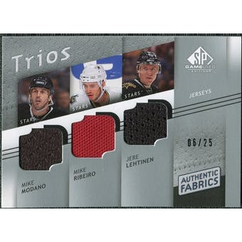 2008/09 Upper Deck SP Game Used Authentic Fabrics Trios #MRL Mike Modano Mike Ribeiro Jere Lehtinen /25