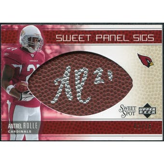 2005 Upper Deck Sweet Spot Sweet Panel Signatures Gold #SPAN Antrel Rolle Autograph /15