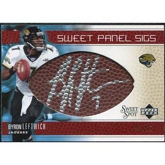 2005 Upper Deck Sweet Spot Sweet Panel Signatures Gold #SPBL Byron Leftwich Autograph /15
