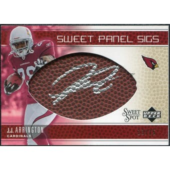 2005 Upper Deck Sweet Spot Sweet Panel Signatures Gold #SPJA J.J. Arrington Autograph /15