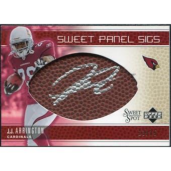 2005 Upper Deck Sweet Spot Sweet Panel Signatures Gold #SPJA J.J. Arrington Autograph /15