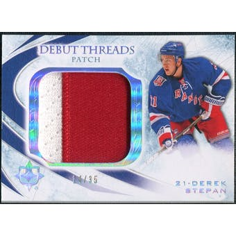 2010/11 Upper Deck Ultimate Collection Debut Threads Patches #DTDS Derek Stepan /35