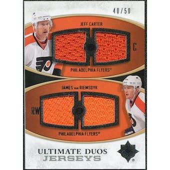 2010/11 Upper Deck Ultimate Collection Ultimate Jerseys Duos #UDJCV Jeff Carter James van Riemsdyk /50