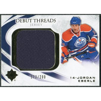 2010/11 Upper Deck Ultimate Collection Debut Threads #DTJE Jordan Eberle 173/200
