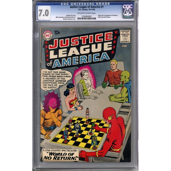 Justice League of America #1 CGC 7.0 (OW-W) *1292804001*