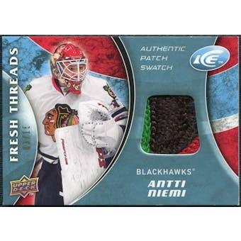 2009/10 Upper Deck Ice Fresh Threads Patches #FTAN Antti Niemi 3/15