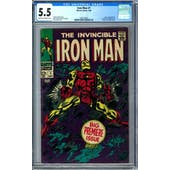 Iron Man #1 CGC 5.5 (C-OW) *1295158003*