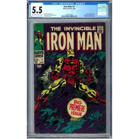 Iron Man #1 CGC 5.5 (C-OW) *1295158003*