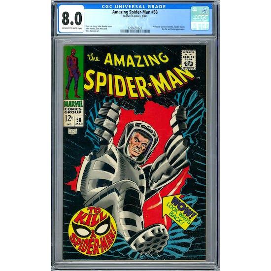 Amazing Spider-Man #58 CGC 8.0 (OW-W) *1296651023*