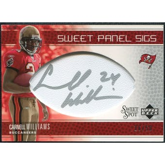 2005 Upper Deck Sweet Spot Sweet Panel Signatures #SPCW Cadillac Williams Autograph /50