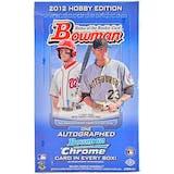 2012 Bowman Baseball Hobby Box