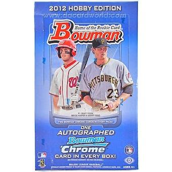 2012 Bowman Baseball Hobby Box (Reed Buy)