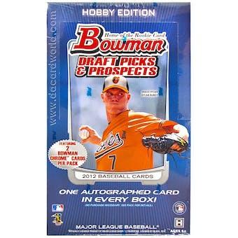 2012 Bowman Draft Picks & Prospects Baseball Hobby Box (Reed Buy)