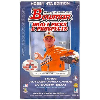 2012 Bowman Draft Picks & Prospects Baseball Jumbo Box