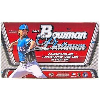 2012 Bowman Platinum Baseball Hobby Box