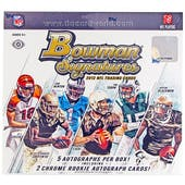 2012 Bowman Signatures Football Hobby Box