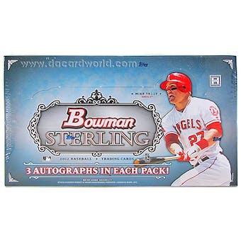 2012 Bowman Sterling Baseball Hobby Box