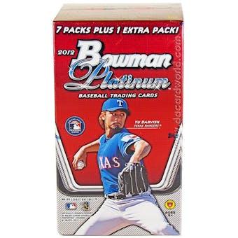 2012 Bowman Platinum Baseball Blaster 8-Pack Box