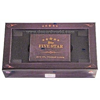 2012 Topps Five Star Football Hobby Box