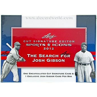2012 Leaf Sports Icons Cut Signature Edition Hobby Box