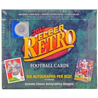 2012 Upper Deck Fleer Retro Football Hobby Box
