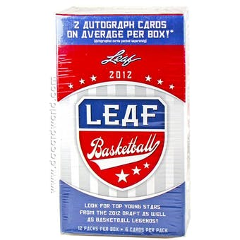 2012/13 Leaf Basketball 12-Pack Box (2 Autos Per Box!)
