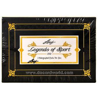 2012 Leaf Legends of Sport Hobby Box