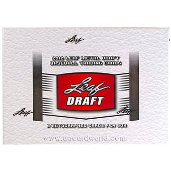 2012 Leaf Metal Draft Baseball Hobby Box