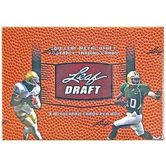2012 Leaf Metal Draft Football Hobby Box