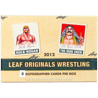 2012 Leaf Originals Wrestling Hobby Box