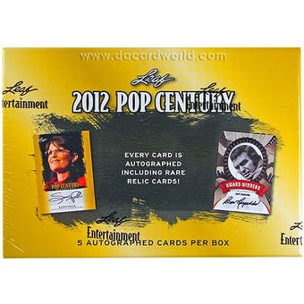 2012 Leaf Pop Century Hobby Box