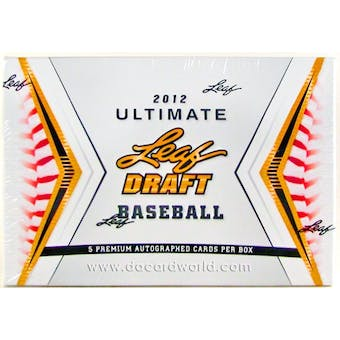 2012 Leaf Ultimate Draft Baseball Hobby Box