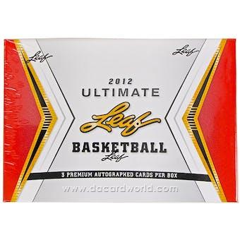 2012 Leaf Ultimate Draft Basketball Hobby Box