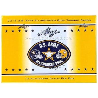 2012 Leaf U.S. Army All American Bowl Football Hobby Box