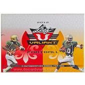 2012 Leaf Valiant Football Hobby Box