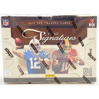 2012 Panini Prime Signatures Football Box