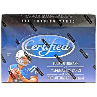 2012 Panini Certified Football Hobby Box