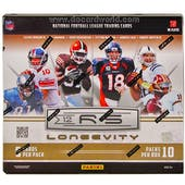 2012 Panini Rookies & Stars Longevity Football Hobby Box - LUCK & WILSON ROOKIES!