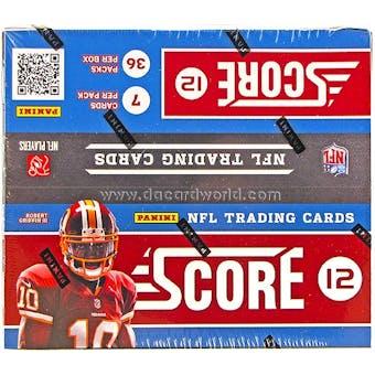 2012 Score Football 36-Pack Box - WILSON & LUCK ROOKIES!