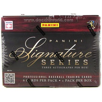2012 Panini Signature Series Baseball Hobby Box