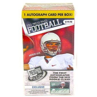 2012 Press Pass Football 3-Pack Box - ONE AUTOGRAPH PER BOX !!! - WILSON & LUCK ROOKIES!
