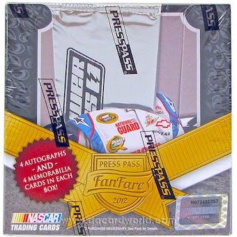 2012 Press Pass Fanfare Racing Hobby Box