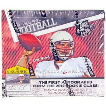 2012 Press Pass Rookie Football Hobby Box
