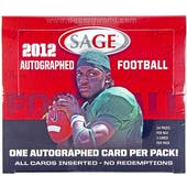 2012 Sage Autographed Football Hobby Box