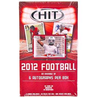 2012 Sage Hit Low Series Football Hobby Box